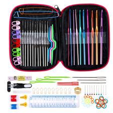 100pcs Ergonomic Crochet Hooks Set, Knitting Needle Kit, Zipper Organizer Case