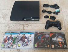 Sony PlayStation 3 Slim 160GB Charcoal Black Console Bundle CECH - 2501A + 4 GIOCHI