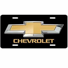 LICENSE PLATE Chevy Bowtie Black Car Truck Van Chevrolet Custom Car Tag