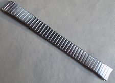 New Mens Flat Links Timex Stainless Steel Expansion 18mm Watch Band Round Ends