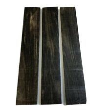 "3 Pack, GABOON EBONY Thin Stock Boards Lumber Crafts Wood 3/8"" X 1-1/2"" X 16"""