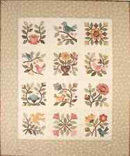 New Applique Quilt Pattern  SONGS OF SPRING  25X31