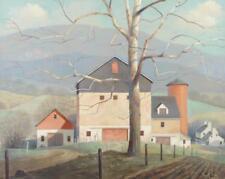 PAUL RIBA Homestead Rural Farm Landscape Painting Lot 494