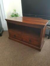 Solid Hardwood Modern Corner TV Unit / TV Stand / Cabinet WIRRAL
