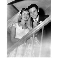 Debbie Reynolds and Eddie Fisher Posing at Wedding 8 x 10 Inch Photo