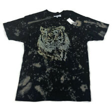 Reason Mens Graphic T-Shirt Embellished Tiger Black XL