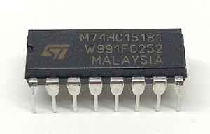 5 Stück /5pieces M74HC151B1 high speed CMOS 8 CHANNEL MULTIPLEXER | DIP16 | 74HC