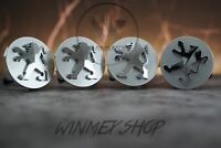 Set of 4 Silver Peugeot 60mm Alloy Wheel Hub Centre Caps Badge Emblem 4X
