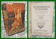 ALMANACCO ITALIANO 1920 - BELLISSIMO FIGURATO  BEMPORAD FIRENZE