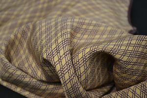 Japanese silk Beige with Plum coloured geometric design 1114