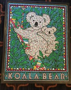 1990 poster print KOALA BEAR ~ Felice Regan kids child animal decor 24x30""