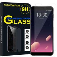 Vitre De Protection Transparent Écran Film Verre Trempe Model Meizu