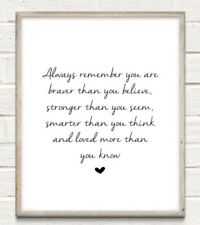 Strong Smart Nursery Typography Print Poster Family Love Unframed Home Quote