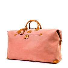 BRICS BRIC'S LIFE Finiture in Pelle Rosa Medium Duffle Borsone Bagaglio Weekender Bag