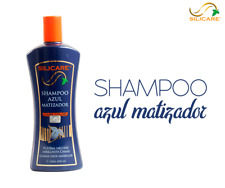 Silacara Shampoo Azul Matizador Care Color Brightens Gray Hair and Stage Wicks.