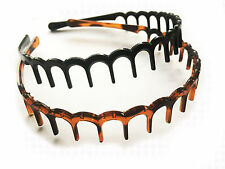 2 x SHARKS TOOTH ZIG ZAG HAIR BAND TOOTHED HEADBAND ALICE BAND SPORTS MENS