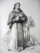 GRAVURE ANCIENNE 19e - SAINT BERNARD