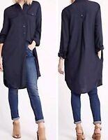 Ex M&S Long Line Shirt Dress Tunic ONLY Size 10 KHAKI LEFT SALE - LAST FEW!