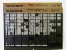 Yamaha FZR1000 FZR7501987 FZR1000T FZR750RT supp Service Manual Microfiche y155