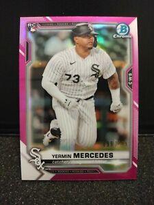 2021 Bowman Chrome Yermin Mercedes Pink Refractor RC #/299 Chicago White Sox