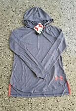 New Under Armour Threadborne Youth Girls Loose Fit Lightweight Hoodie Large