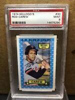 1974 Kelloggs Rod Carew #30 PSA 9 Mint Minnesota Twins