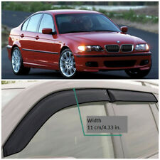 Wide Window Visors Side Guard Vent Deflectors For BMW 3 E46 Sd 5d 1998-2005