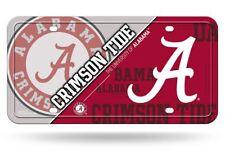 "Alabama Crimson Tide License Plate Metal Auto Tag NCAA Red 6"" X 12"""
