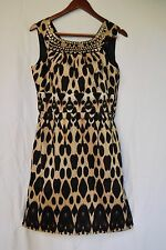 Calvin Klein Beaded Round Neck Sleeveless Dress, Size 12 Regular NWT
