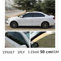 Car Black Car Home Glass Window Tint Tinting Film and shade Roll 50cmx1m 15% VLT