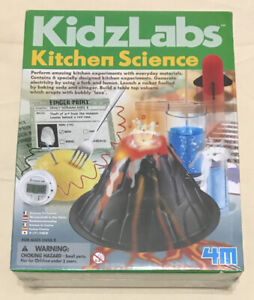 4M KidzLabs Kitchen Science Experiment Kit Volcano Rocket Electricity Candy NEW