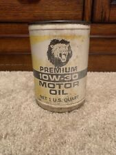 Plastic One Quart Lions Head Oil Can Gas Advertising