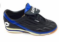 Lotto Mens Mirage Indoor Soccer Cleat Shoe Black & Blue Size 6.5 M US