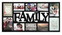 Family Fotorahmen Familie Bilderrahmen XL schwarz, Collage 10 Fotos Galerie Bild