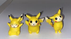 Pokemon TOMY CGTSJ Pikachu Figure Lot of 3 Vtg Nintendo 90s Gen 1 PVC Toy
