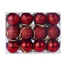 24pcs Navidad Xmas árbol bola Casa adorno decoración caliente de la venta