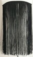 chainette fringe trim 18 inches -black -sold by yards