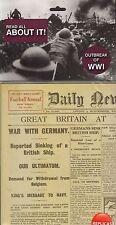 Outbreak of WW1  - World War One replica Newspaper