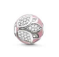 New THOMAS SABO Sterling Silver & Pink enamel Lotus Karma Bead K0203 £98