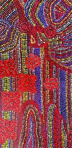 """New beautiful aboriginal art on canvas in acrylics """"Meeting Places"""" by Pati COA"""