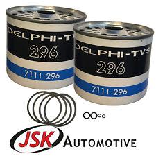 Delphi CAV Fuel Filters 2pc Massey JCB Kubota Case IH David Brown Landini
