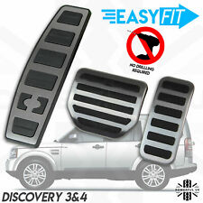 Foot pedal 3pc cover kit for Land Rover Discovery 3+4 sport style brushed finish
