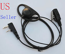 D Earpiece Headset Mic For Kenwood Radio TK-3170 TK-3173 TK-3200 TK-3201 TK-3202
