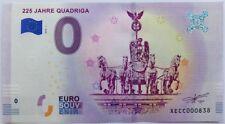 0 Euro Schein 225 Jahre Quadriga - XE CC-1 Deutschland 2018-1