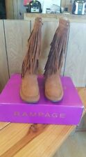 Brown Fringe Boots Size 8