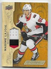 18/19 UPPER DECK ENGRAINED ROOKIES PATCH #94 Maxime Lajoie #34/35 3CLR