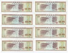 1979 Bank of China 10 Fen x 8 pcs. China Foreign Exchange Cert Banknote (#101)