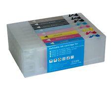 Lot de 8 Cartouches rechargeables avec puce Epson Stylus 9600 7600 4000 Non-OEM