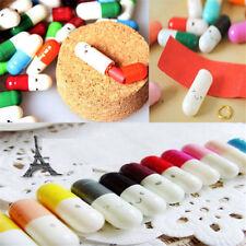 50Pcs Message in a Bottle Message Capsule Cute Half Color Love Letter Paper Pill