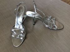 Coast silver look strappy leather shoes size 6